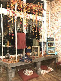 Fall window display – Famous Last Words Salon Window Display, Boutique Window Displays, Store Window Displays, Autumn Window Display Retail, Retail Displays, Store Front Windows, Retail Windows, Fall Store Displays, Shop Displays