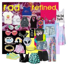 """Rad & Refined Girl"" by thxda on Polyvore featuring Colortone, Rad+Refined, Disturbia, Dr. Martens, Puma, Chicnova Fashion, Topshop, Roberto Cavalli, Wildfox and Miss Selfridge"