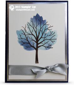 VIDEO: How to make a Masked Tree in a Leaf Technique | Stampin Up Demonstrator - Tami White - Stamp With Tami Crafting and Card-Making Stampin Up blog