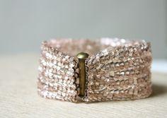 woven bead bracelet