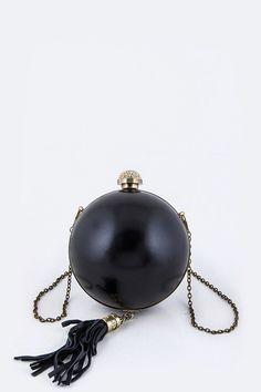Crystal Ball Push Lock Clutch