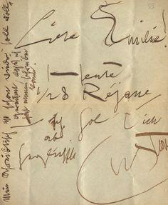 Gustav KLIMT. Letter to Emilie Flöge, 1906