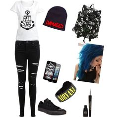 Back to School by michaelalemmons on Polyvore featuring polyvore fashion style Miss Selfridge Converse Napoleon Perdis
