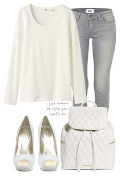 """""""Outfit"""" by hyperactivecold ❤ liked on Polyvore featuring Giuseppe Zanotti, Love Quotes Scarves, Paige Denim, Uniqlo and Vera Bradley"""