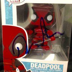 Funko Pop Deadpool Ryan Reynolds signed vinyl doll