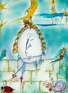 """Humpty-Dumpty"" fragment of watercolor illustration, artist Marina Sciascia (USA)"