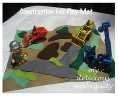 DIY Felt Play Mats: Construction & Trains    Possible gift idea - fairy land mat maybe on alarge scale with movable pieces