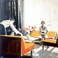 Lounge - painting by Cécile Vrinten