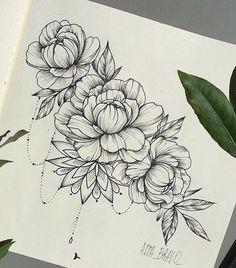 4b5ccf836389c6e370517831b08adee4--peony-flower-drawing-peony-sketch.jpg (586×666)