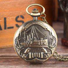Bronze, E Design, Retro, Pocket Watch, Watches, Products, Retro Vintage, Chains, War