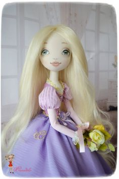 Rapunzel. Tangled. 25 inches. textile doll. от Elenadolls на Etsy