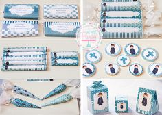 BLOG COMUNION NIÑO2 Candy Bar Comunion, Ideas Para Fiestas, First Communion, Reception Decorations, Christening, Silhouette Cameo, Party Time, Diy And Crafts, Invitations