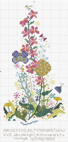 Wildflower Sampler newest free chart from Embroiderbee
