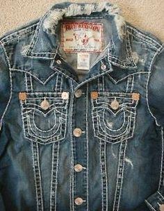 true religion jean jacket - Google Search