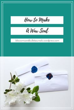 How to make a wax seal pin. Best Bullet Journal Notebooks, Bullet Journal 101, Smelly Candles, Snail Mail, Wax Seals, Blossoms, Invitations, Blog, Cards