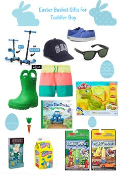 Easter Basket Ideas for little boys ages Spring 2019 gifts for boys age 6 Easter Basket Ideas Boys Easter Basket, Easter Baskets For Toddlers, Easter Gift Baskets, Easter Crafts For Kids, Basket Gift, Easter Decor, Toddler Boy Gifts, Christmas Preparation, Holidays With Kids