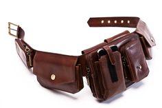 Items similar to The Voyager - Leather Hip Bag, Leather Belt Bag , burning man bag, festival belt, Travel utility belt on Etsy Leather Utility Belt, Leather Belt Bag, Brown Leather Belt, Leather Men, Distressed Leather, Belt Pouch, Belt Bags, Bike Wear, Hip Bag