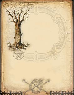 Elemental Tree page by Grim, scrapbook, art journal, Book of Shadows