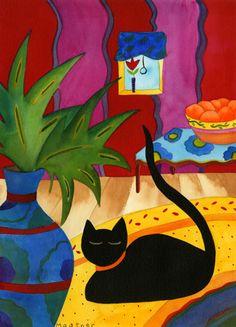 Carpet Cat by Eva Mautner