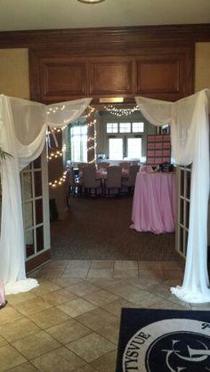 Front double doors to ballroom
