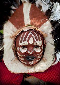 Kikuyu tribe man with make up - Kenya by Eric Lafforgue, via Flickr