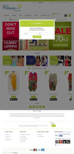 Ctaare : Online Ecommerce portal ReDesigned by me