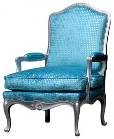 sequin blue chair
