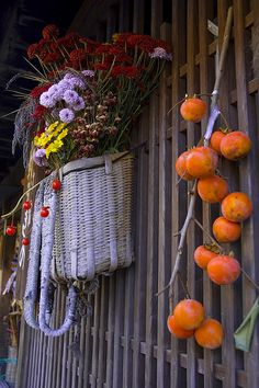 Decorations of some private farm house in Tsumago, Nagano, Japan