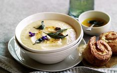Roast garlic and parsnip soup Roasted parsnip soups are always welcome when the weather starts to cool, and the addition of crispy garlic to this hearty soup recipe is a welcome punch of flavour. From the May issue of recipes+ magazine.