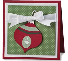 christmas ornaments made with cricut | Project Center - Christmas Ornament Card