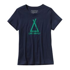 If it doesn't fit in the tent, you don't need it. We've got you covered in the Patagonia Women's Tent Life Cotton T-Shirt. Made with 100% organic cotton.