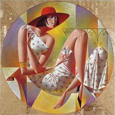 Vibrant Cubist Art Works and Illustrations by Georgy Kurasov Cubist Artists, Illustration Art, Illustrations, Colorful Paintings, Russian Art, American Artists, Figurative Art, Love Art, Contemporary Art