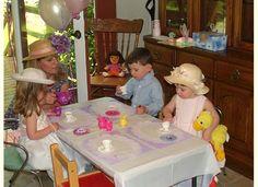 Image detail for -tea party kids having tea edit