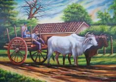 Fantasy Paintings, Landscape Paintings, Country Art, Coq, Landscape Pictures, Costa Rica, Artist Painting, Central America, Puerto Rico