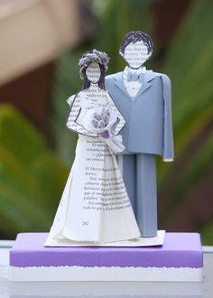Custom wedding cake topper by MarielleJL on Etsy