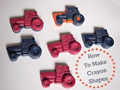 Make Your Own Crayons Shapes .. so easy!  #tractors #birthday