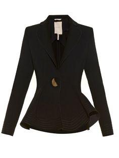 Roksanda Sienna fluted-hem crepe jacket