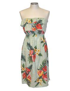 Retro Hawaii Blooms Sleeveless Dress Flared Short