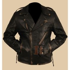 When you go to purchase the Men's Heavy Duty Black Distressed Brando Motorcycle Leather Jacket , there is an in abundance of choi...