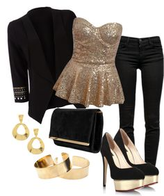 """Golden"" by annaleonell69 on Polyvore"