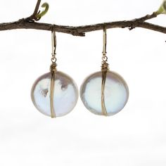 Luxe Pearl Coin Earring Wholesale
