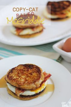 Copy-Cat Paleo McGriddle Breakfast Sandwich (Gluten Free) Need to try this! I loved mcgriddle sandwiches! Free Breakfast, Paleo Breakfast, Mcdonalds Breakfast, Clean Breakfast, Breakfast Muffins, Breakfast Smoothies, Breakfast Casserole, Whole Food Recipes, Cooking Recipes