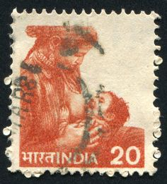 INDIA-CIRCA-1955 stamp printed by India, and shows mother nurse