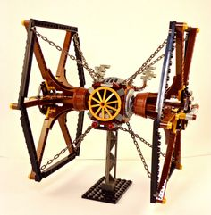 Another steampunk Lego TIE fighter!