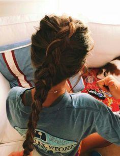 64 super ideas hairstyles for girls simple hair hacks Messy Hairstyles, Pretty Hairstyles, Hair Inspo, Hair Inspiration, Gorgeous Hair, Beautiful, Pinterest Hair, Good Hair Day, Looks Style