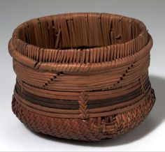 Africa   Basket from the Congo Freestate   Plant fiber and wood   ca. 1907.