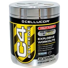 Cellucor, C4 Extreme, Pre-Workout w/NO3, Fruit Punch, 30 servings