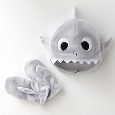 Best 12 Jumping Beans® Shark Fleece Hat and Mittens Set – Toddler Sewing For Kids, Baby Sewing, Sewing Patterns Free, Free Sewing, Fleece Hats, Fleece Blankets, Shark Hat, Sewing Crafts, Sewing Projects