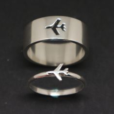 Plane Couple Promise Ring Set for Women - His and Her Ring for Woman, Alternativ. Plane Couple Promise Ring Set for Women – His and Her Ring for Woman, Alternativ… Plane Couple Engagement Ring Settings, Vintage Engagement Rings, Vintage Rings, Diamond Engagement Rings, Solitaire Engagement, Engagement Rings Couple, Solitaire Ring, Bridal Rings, Wedding Rings