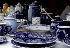 Zdieľané s Blue Monday Blue And White, Pottery, Crystals, Tableware, Bratislava, China, Art, Ceramics, Craft Art